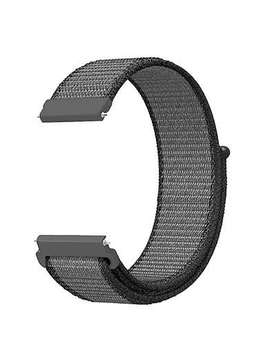 Microsonic Realme Rma207 Watch S Hasırlı Kordon Woven Sport Loop Beyaz Gri